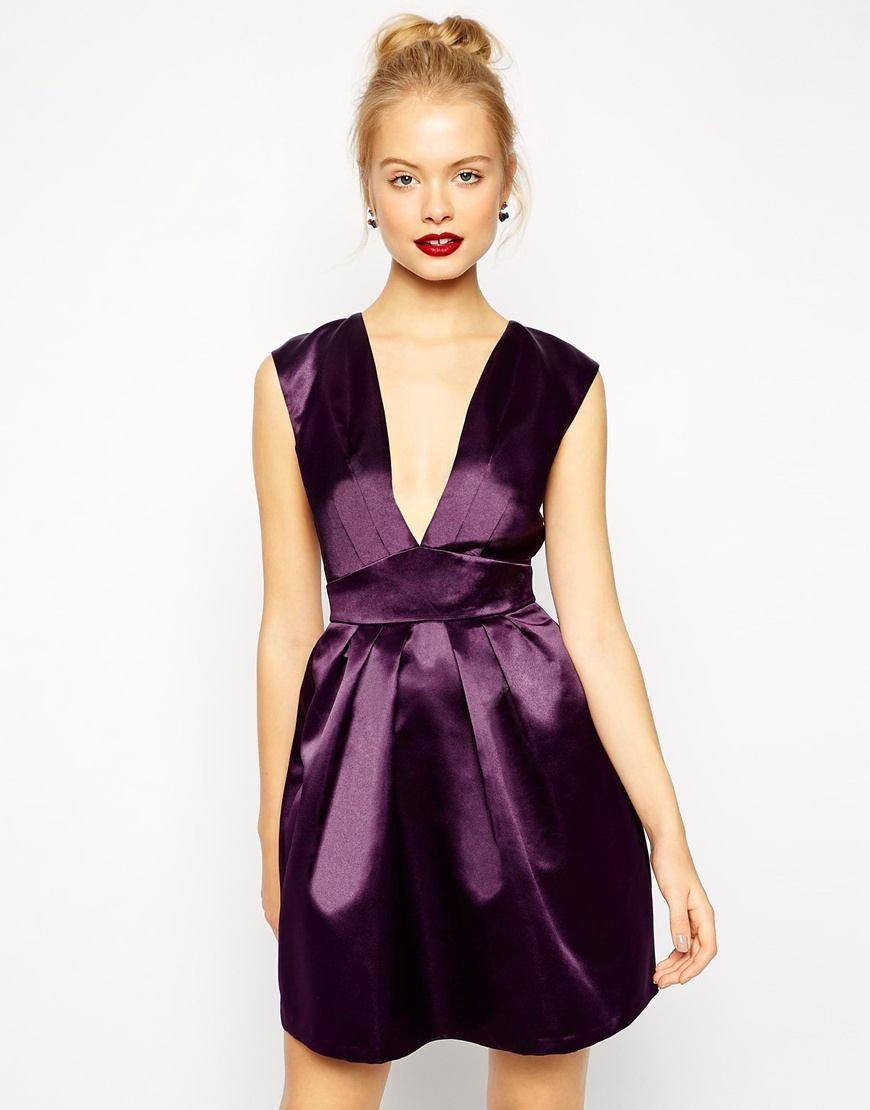 vestido-de-coctel-2015-escote-pronunciado-de-asos