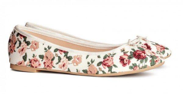 Tendencias Calzado: Zapatos, Zapatillas y Sandalias para mujer Primavera Verano 2015 bailarinas flores