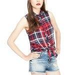 moda-para-adolescentes-verano-2014-camisa-cuadros-nudo-bershka