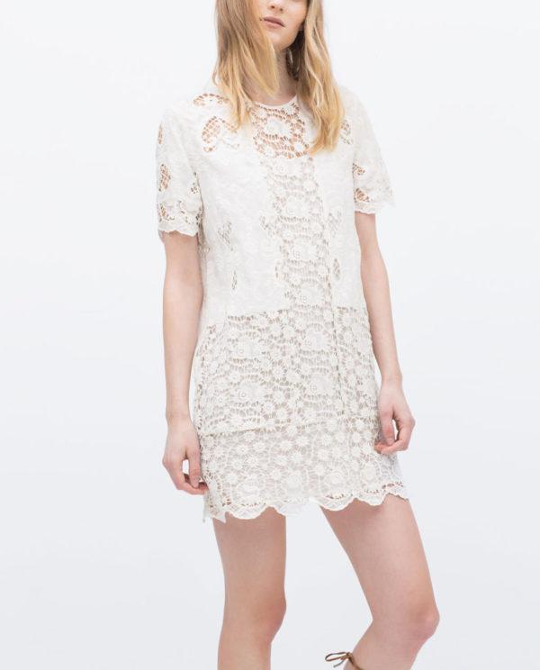 tendencias-vestidos-para-mujer-primavera-verano-2015-modelo-zara-encaje-guipur