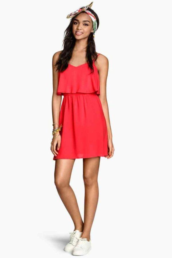 vestidos-cortos-colores-de-moda-primavera-verano-2015-vestido-coral-h&m