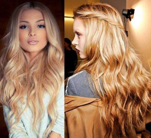 Peinados modernos mujer pelo largo