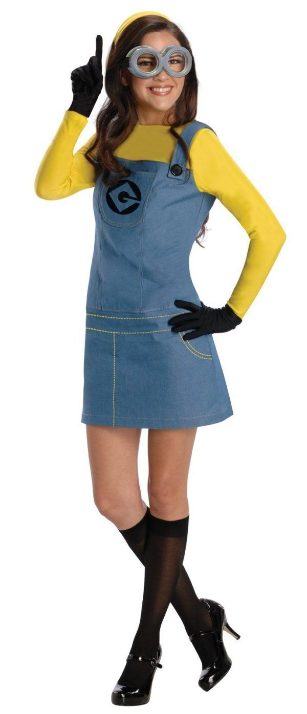 Costume-home-woman-halloween-2014-disguise-of-minion