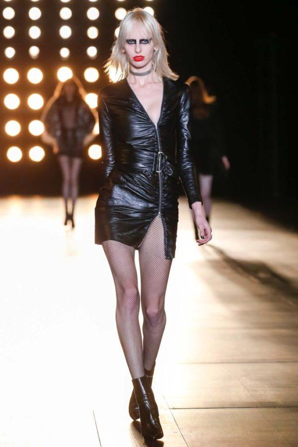 Catálogo Saint Laurent Mujer Primavera Verano 2015-2016-vestido-de-cuero