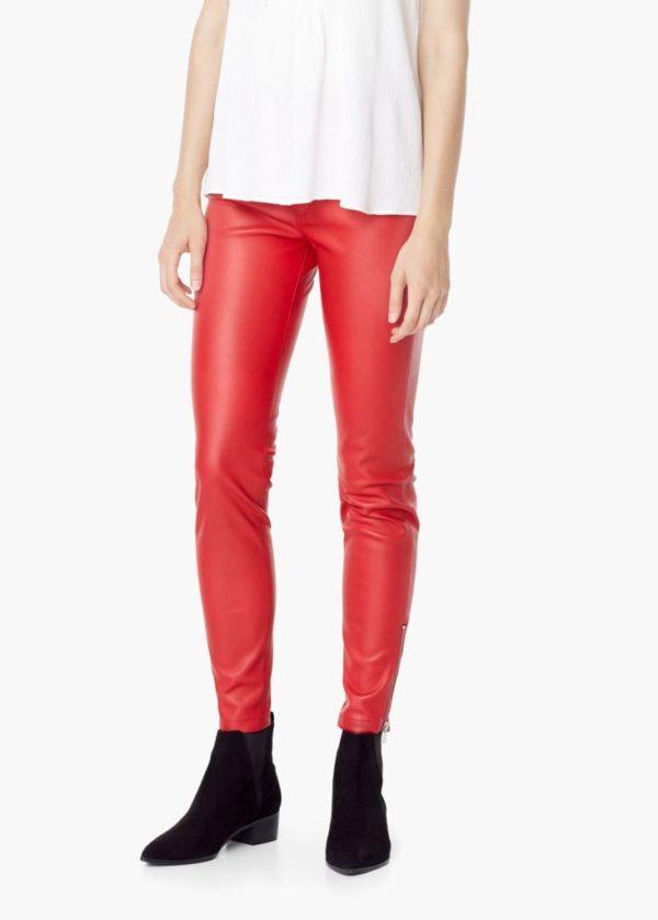 catalogo-mujer-mango-otono-invierno-2015-2016-pantalon-poliester-rojo