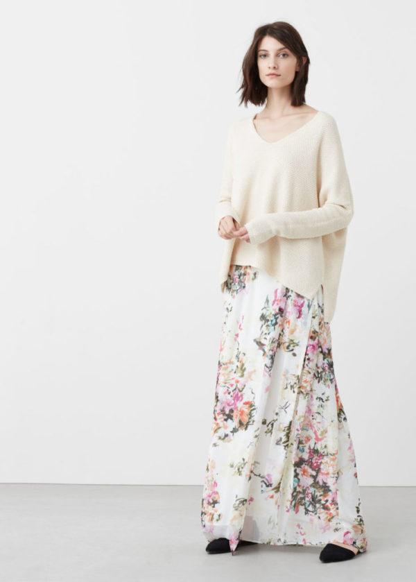 catalogo-mango-para-mujer-moda-falda-rlarga-estampada