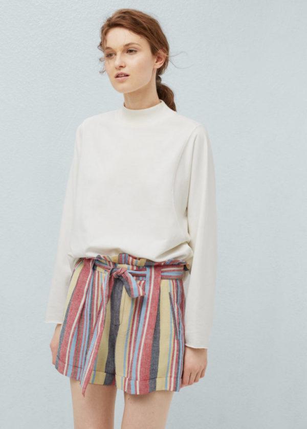 catalogo-mango-para-mujer-moda-short-rayas