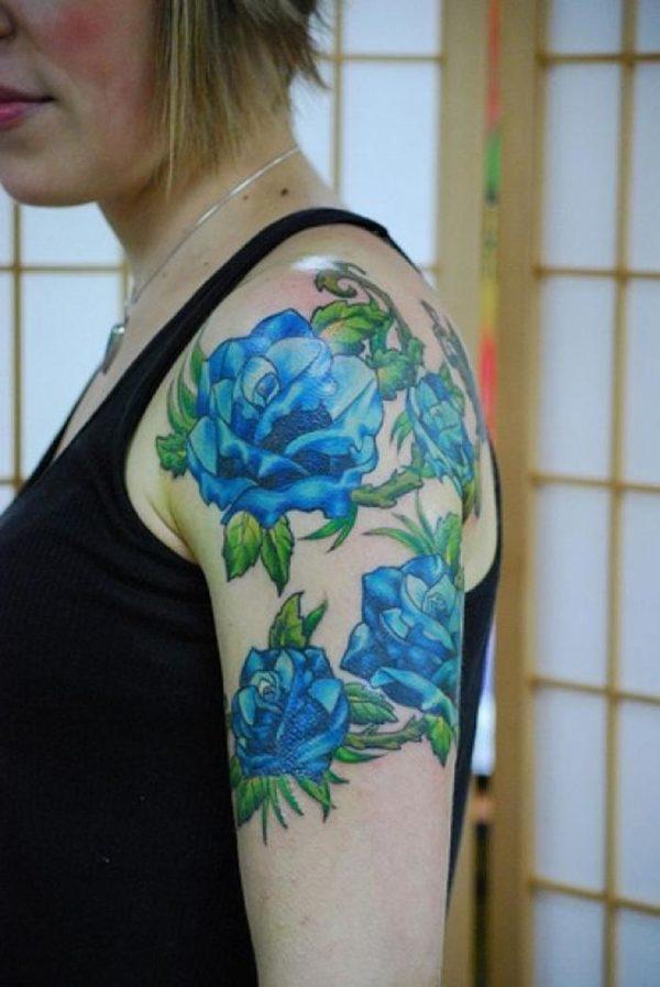 fotos-tatuajes-de-rosa-azul
