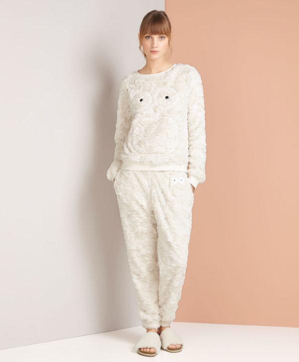 catalogo-oysho-2016-pijama-buho-peluche-crudo