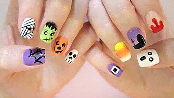 + Of 100 PHOTOS of NAILS HALLOWEEN 2017