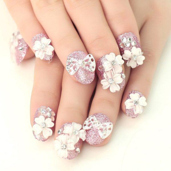 decoracion-de-unas-para-novias-gilter-rosa