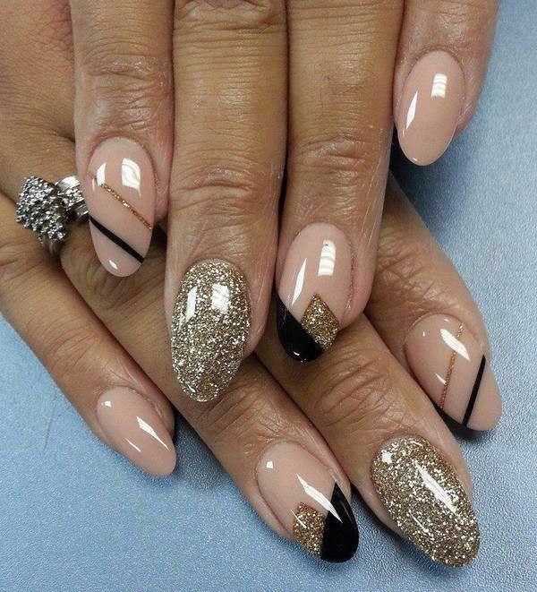 decoracion-de-unas-para-novias-gold-black