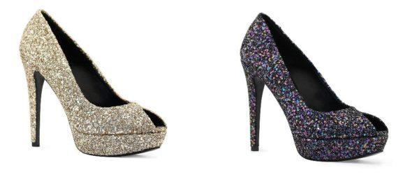 Zapatos para un vestido de fiesta