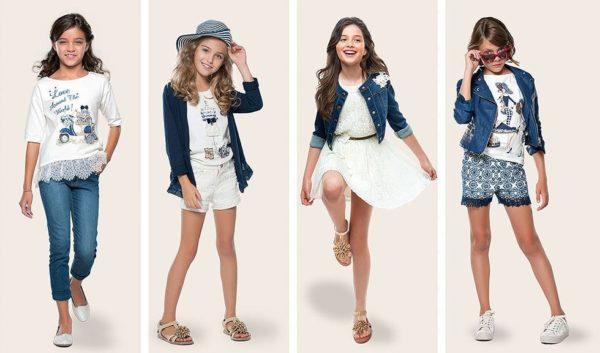 la moda variada para nias