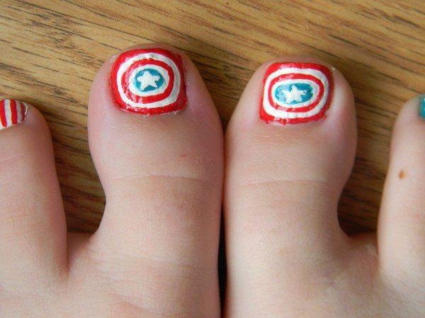 Nail-nails-capitan-america