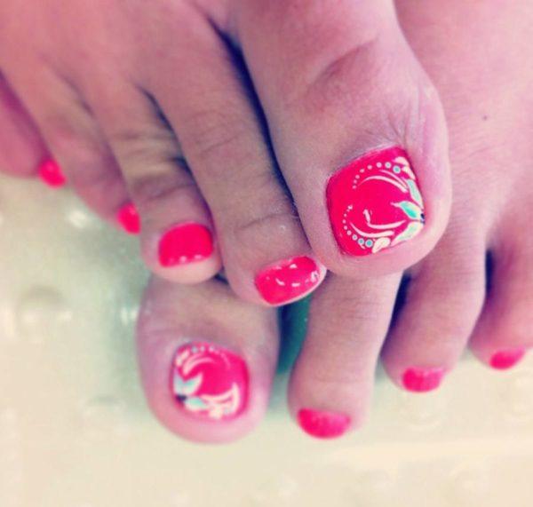 unas decoradas para pies foot nails uas hawaianas - Unas Decorada