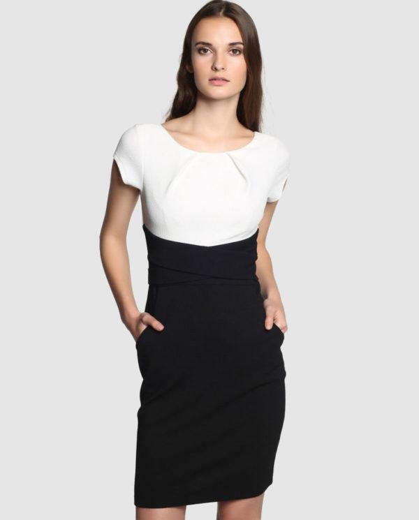 vestidos-coctel-boda-2015-vestido-blanco-y-negro-antea