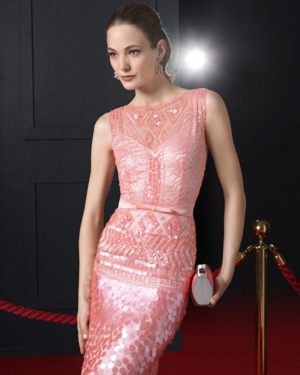 vestidos-de-fiesta-rosa-clara-2015-vestido-color-coral-pedreria