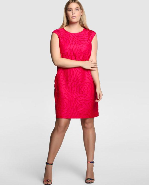 vestidos-para-gorditas-2015-modelo-color-rojo-estampado-el-corte-ingles