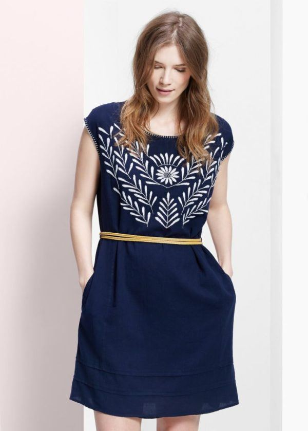 vestidos-para-gorditas-2015-modelo-vestido-bordado-floral-de-mango