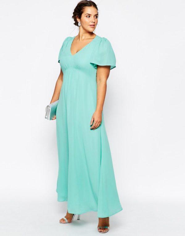 vestidos-para-gorditas-2015-modelo-vestido-suave-escote-de-pico-de-asos