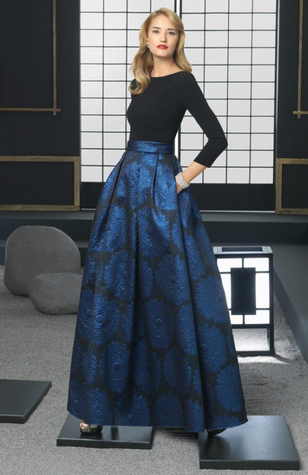El color en los Vestidos de fiesta Rosa Clara Otoño Invierno 2015-2016-vestido-azul