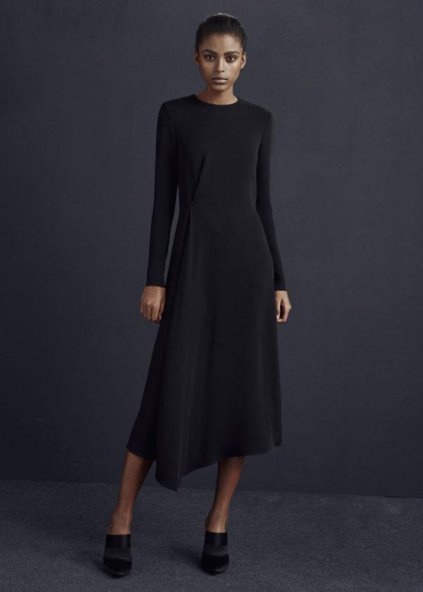 mango-rebajas-2016-vestido-de-noche-negro