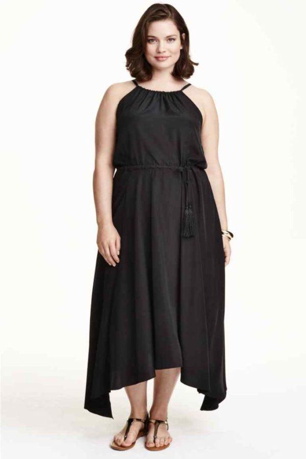 vestidos-para-gorditas-TENDENCIAS-vestido-negro-largo-h&m