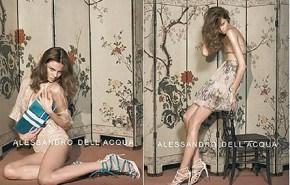 Alessandro Dell´Acqua primavera verano 2008, campaña publicitaria