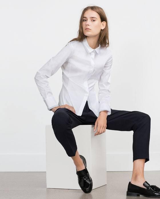 Moda otono invierno para mujer camisetas y camisas 2015 2016 camisa