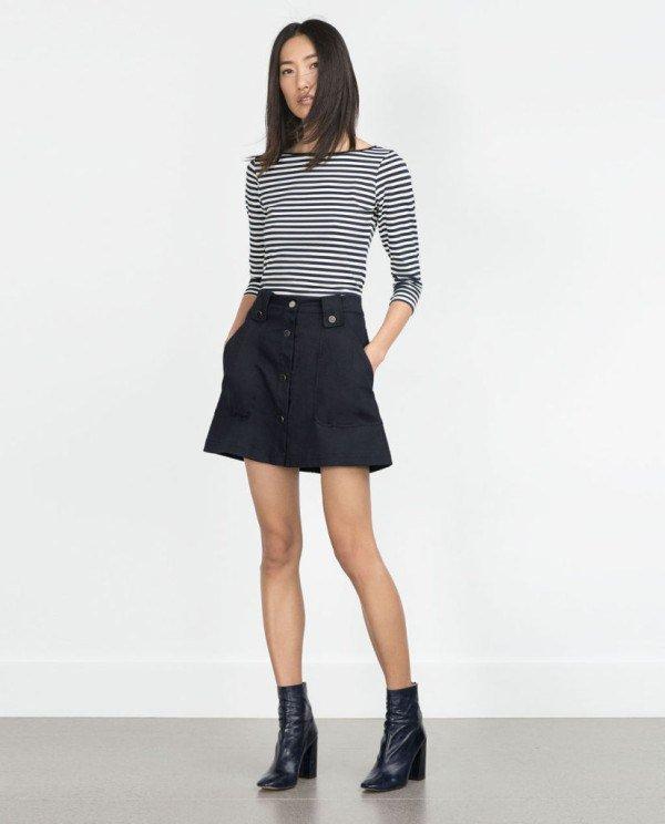 moda-otono-invierno-para-mujer-camisetas-y-camisas-CAMISETAS-manga-tres-cuartos-zara