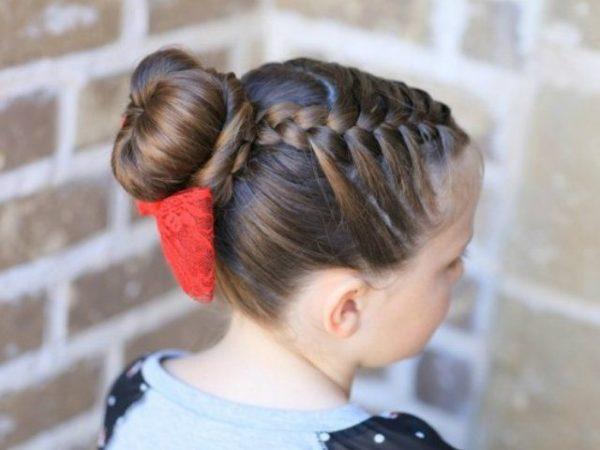 Peinados de pelo recogido para ninas