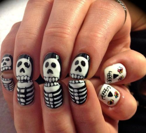 Halloween-white-black-print