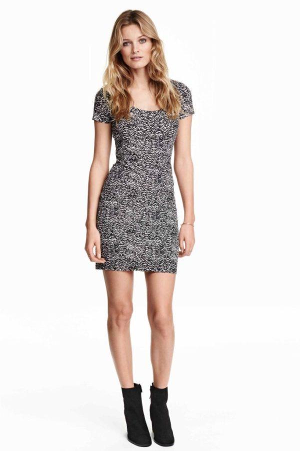 vestidos-otono-invierno-2016-ajustado-punto-estampado