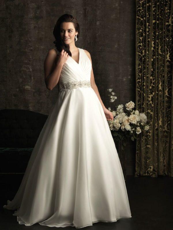 dbd3ba94d vestidos-de-novia-para-embarazadas-2016-cintura-pedreria