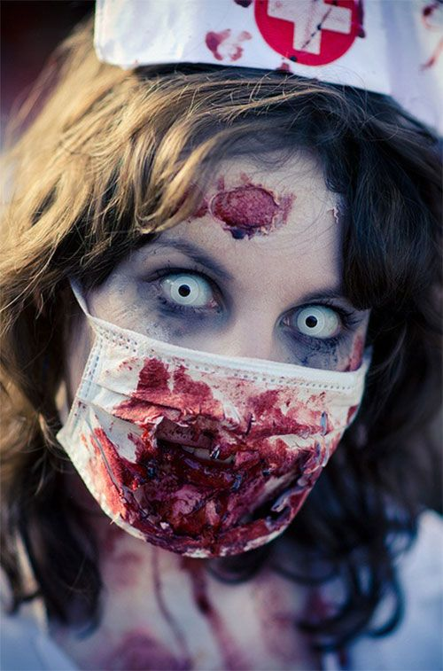 Makeup-halloween-zombie-as-paint-as-a-dead-living-photos-enfermera