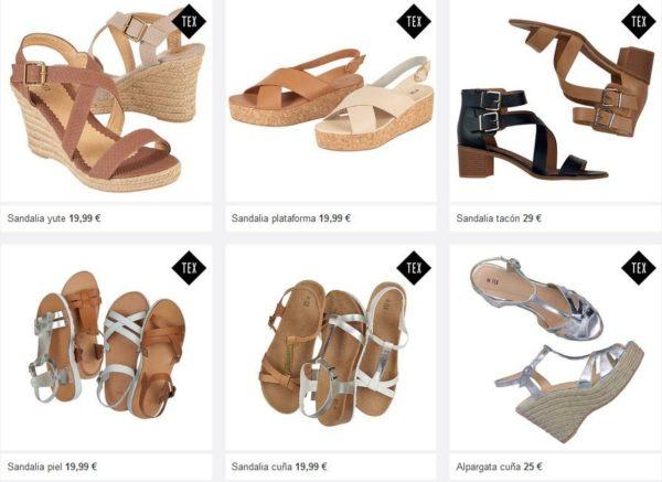 Rebajas-carregour-ropa-calzados-mujer-sandalias-cuero