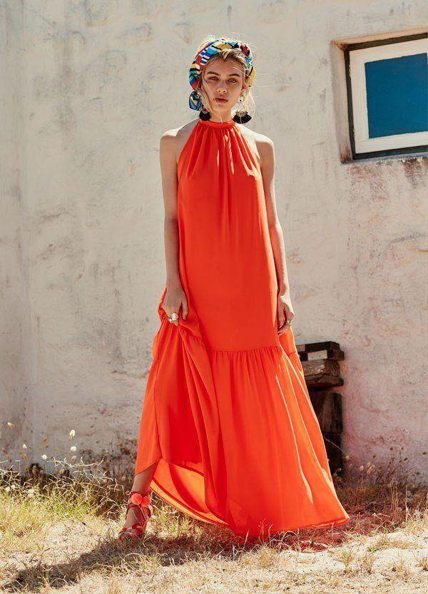 Rebajas-primark-ropa-mujer-2016-vestido-largo-naranja
