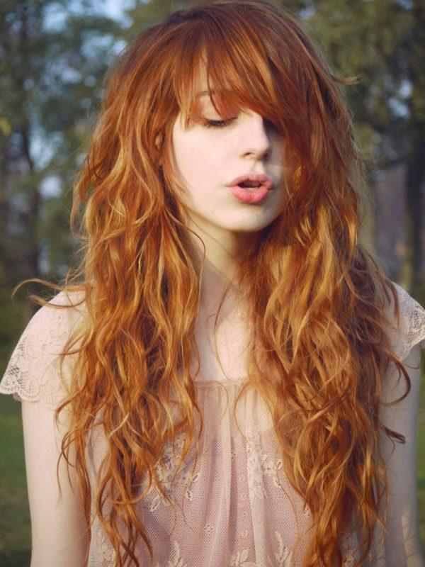Flequillo para el pelo rizado