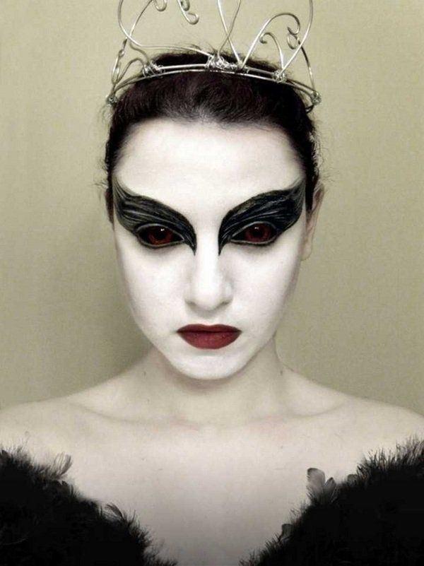 bruja inspirada en el cisne negro - Maquillaje Bruja