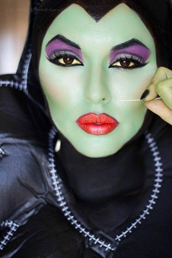 bruja inspirada en malfica - Maquillaje Bruja