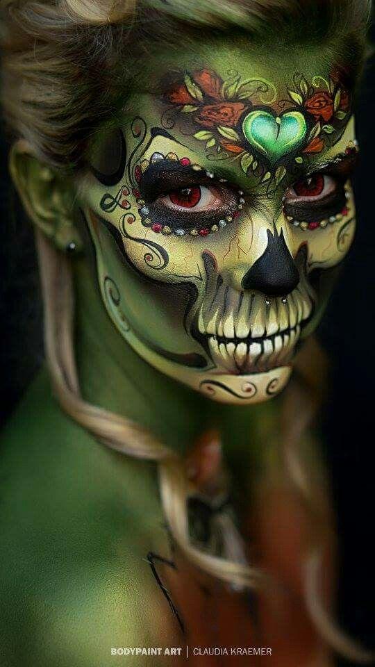 Halloween makeup-skull