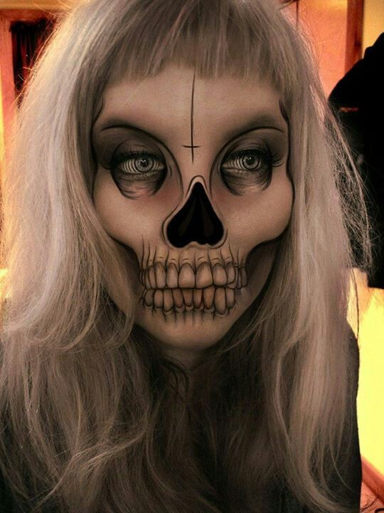 Halloween makeup-death