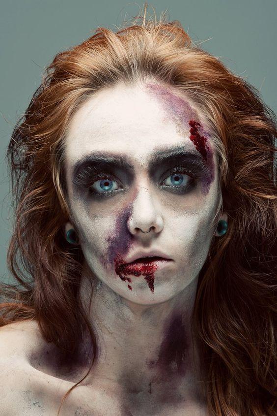 Makeup-halloween-zombie-peliroja