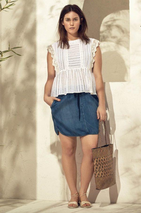 ropa-para-gorditas-2016-primavera-verano-violeta-vestido-top-troquelado