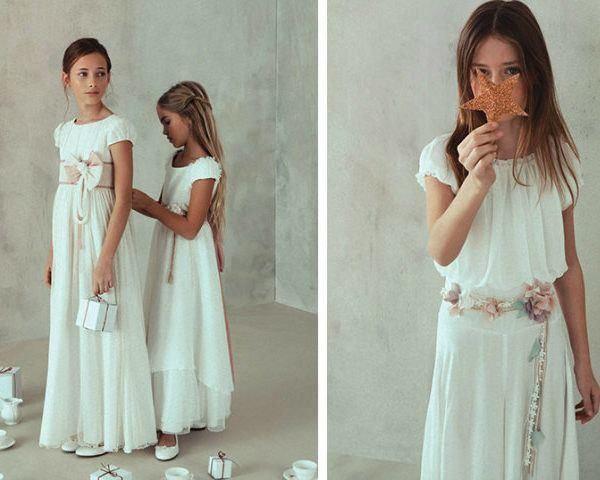 Vestidos de comunion largos