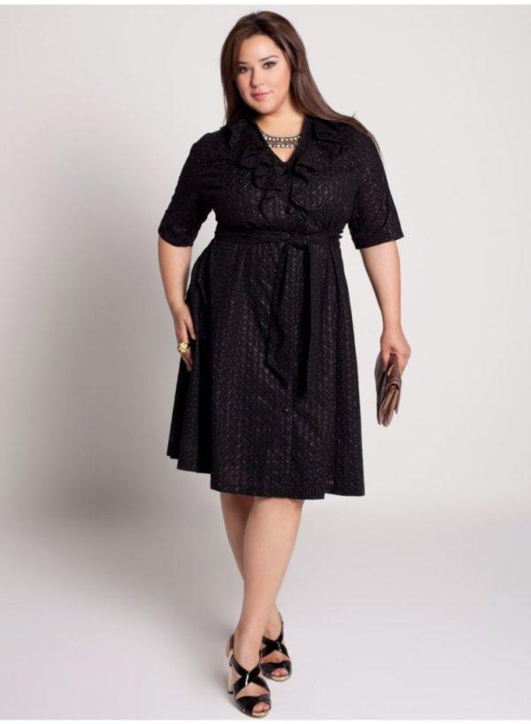 vestidos-de-noche-para-gorditas-negros-con-cinturon