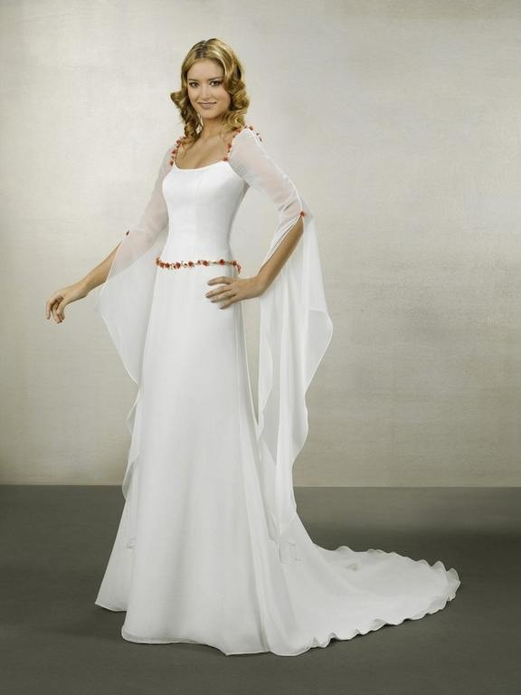 05e3a5395a Los vestidos de novia medievales suele llevar bordados