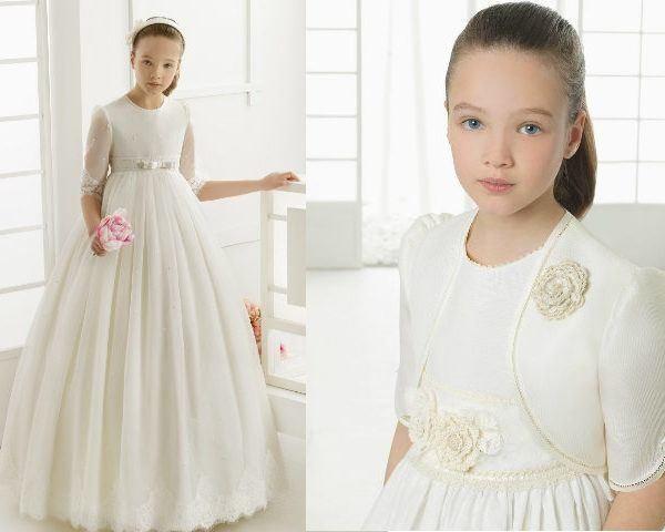 Catalogo de vestidos de primera comunion elegantes