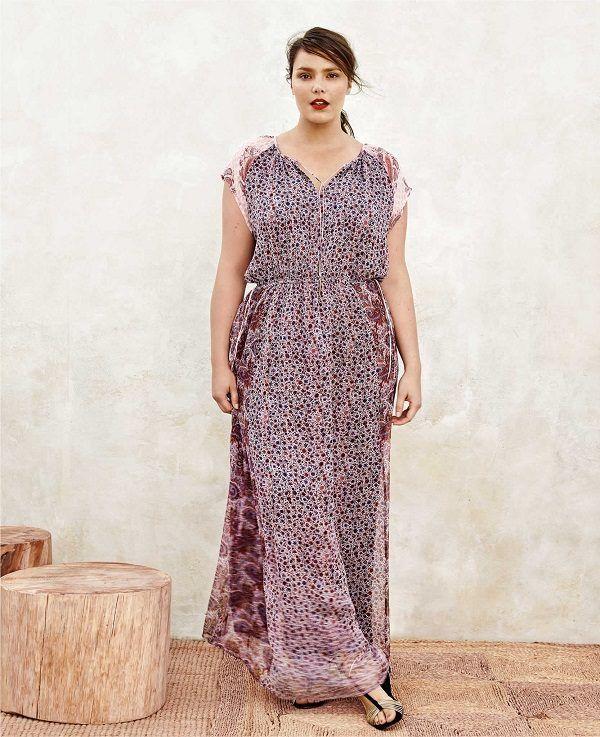 vestidos-para-gorditas-mango-violeta-estampados-flores-puntos